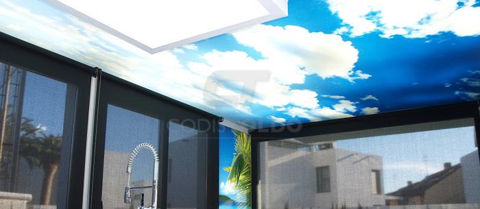Revestimiento techos y paredes con lona tensada for Plafones de techo y pared